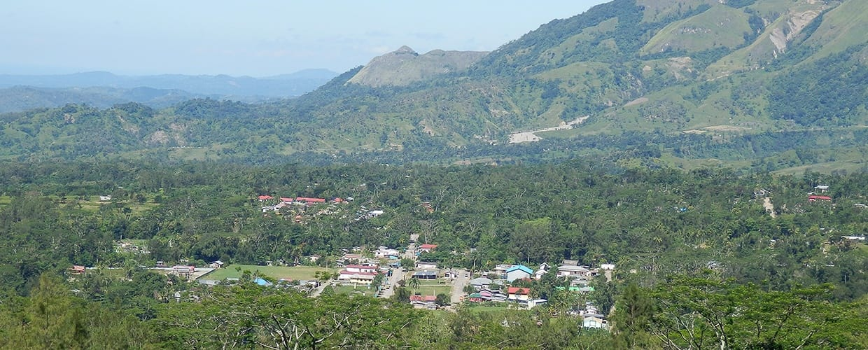 Timor-Leste: Crest, Mountain, Mountain Range, Nature, Outdoors, Valley, Countryside, Hill, Flora, Plant, Vegetation, Bush, Forest, Land, Tree, Landscape, Scenery, Wilderness, Building, City, Downtown, Town, Urban, Conifer