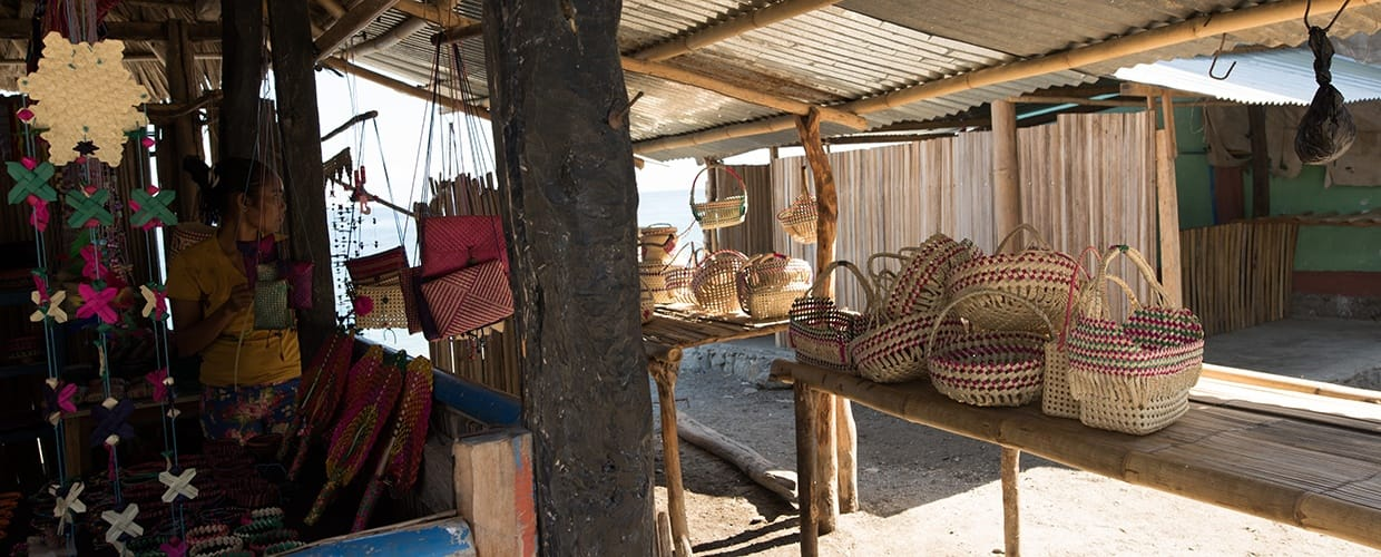 Timor-Leste: Chair, Furniture, Woven, Basket, Dining Room, Indoors, Interior Design, Room, Alley, Alleyway, Building, City, Road, Street, Town, Urban, Reception, Reception Room, Waiting Room, Shop, Bowl, Canopy, Umbrella