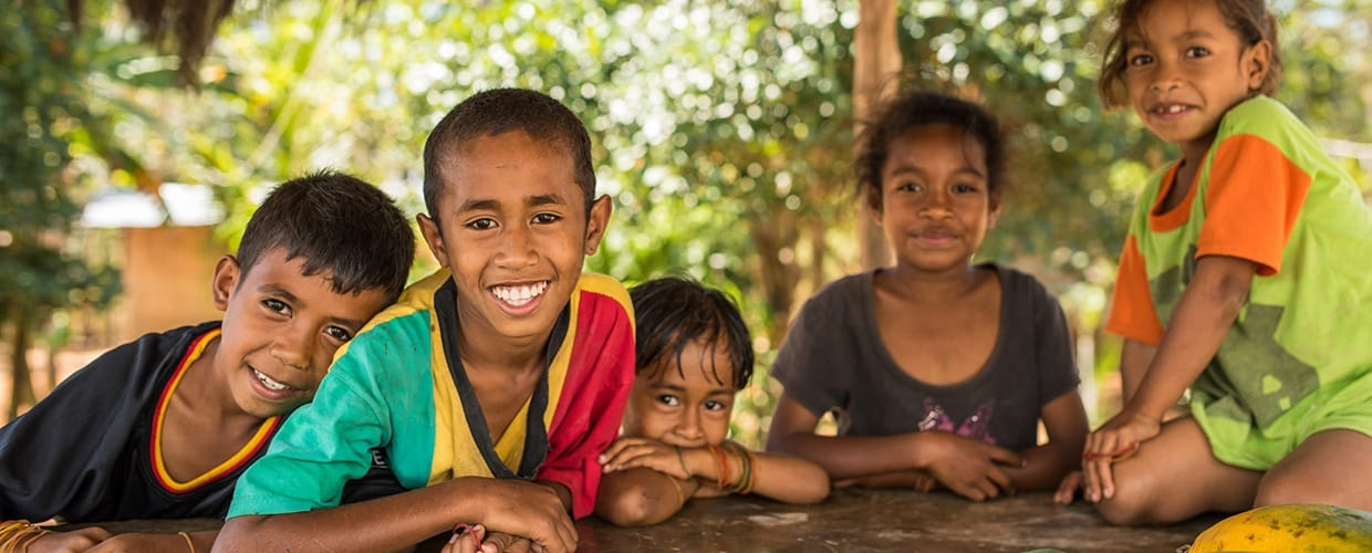 Timor-Leste: Human, People, Person, Face, Portrait, Smile, Baby, Child, Kid, Female, Girl, Woman, Leisure Activities, Bowl, Outdoors