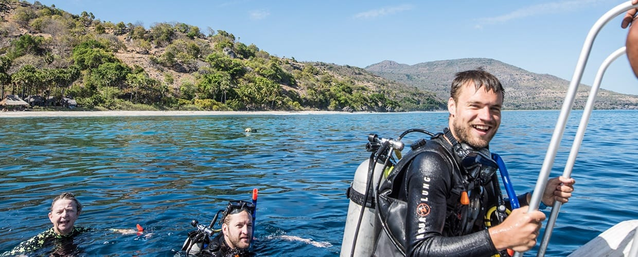 Timor-Leste: Human, People, Person, Sport, Sports, Swimming, Water, Adventure, Diver, Diving, Leisure Activities, Outdoors, Scuba Diving, Snorkeling, Nature, Ocean, Sea, Fishing, Clothing, Lifejacket, Vest